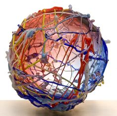 Art Object, Czech Glass, Pop Art, Bohemian, Vase, Wool, Beauty, Home Decor, Beleza