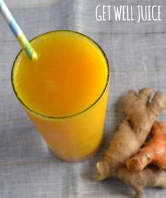 We adapted this healthy, cleansing juice from Bon Appetit. Drinking this ginger and turmeric juice when we have a cold instantly makes us feel better!