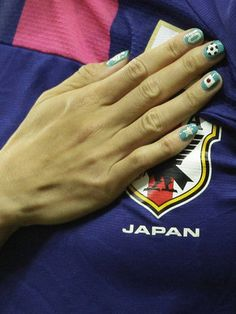 nails from Japanese women's succer player Homare Sawa.