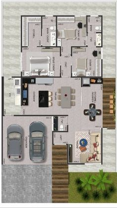 Discover recipes, home ideas, style inspiration and other ideas to try. Small House Floor Plans, Home Design Floor Plans, Home Building Design, Dream House Plans, My Dream Home, Building A House, House Layout Plans, House Layouts, House Construction Plan