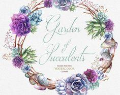 Aquarelle de mariage Couronne Lisianthus fleurs par ReachDreams