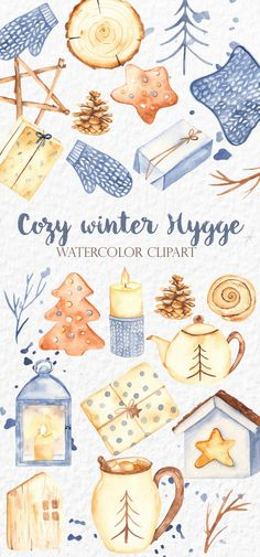 Winter Illustration, Christmas Illustration, Watercolor Illustration, Watercolor Clipart, Watercolor Cards, Winter Love, Cozy Winter, Cover Design, Hygge Christmas