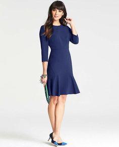 vestido azul de @Ann Flanigan Taylor