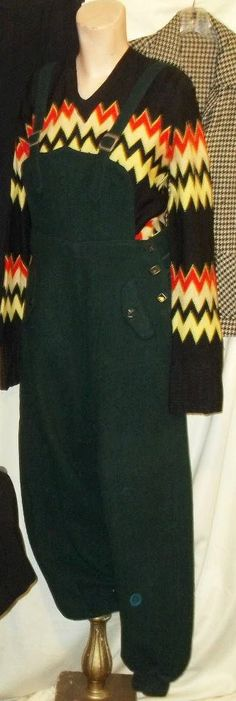 SALE RARE 1940 WWII trousers forest green wool by kitschnkeen, $80.00