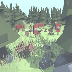 Low poly camp