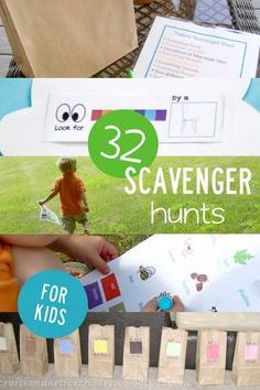 32 Scavenger Hunts | The possibilities of ideas for a scavenger hunt for kids are endless! There are so many different fun scavenger hunt ideas for kids, but you can literally take any way to do a scavenger hunt and apply any variation you'd like to it!