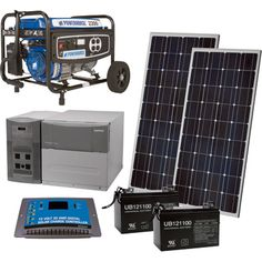 NPower™ Complete Solar Power Package with Backup Generator — 1800 Watts in Bypass Mode + 2200 Additional Generator Watts