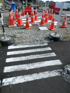 orange cones have become a symbol in post-quake Christchurch New Zealand, Alcoholic Drinks, Orange, Glass, Travel, Viajes, Drinkware, Alcoholic Beverages, Corning Glass