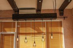 Светильник с лампочками Эдисона