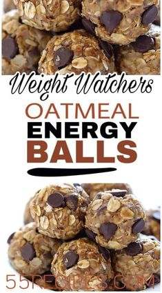 delicious Oatmeal Energy balls are the perfect healthy snack. Simple to make and so tasty. Healthy Snacks oatsThese delicious Oatmeal Energy balls are the perfect healthy snack. Simple to make and so tasty. Plats Weight Watchers, Weight Watchers Breakfast, Weight Watchers Desserts, Weight Watcher Cookies, Weight Watcher Recipes, Weight Watcher Granola Bar Recipe, Weight Watchers Chicken Salad Recipe, Weight Watchers Recipes With Smartpoints, Weight Watchers Salad