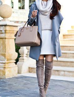 Grey Trench Coat and Winter Neutrals | Stylish Petite | Bloglovin'