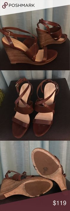"""Cole Haan 5"""" wedge sandal with a Nike Air insole. Almost new: Worn twice!  A classic and chic look. Authentic Cole Haan.  A perfect choice for work or play!  10% of proceeds donated in your name to a U.S. Charity.😉 Cole Haan Shoes Wedges"""