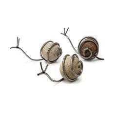 Snail Sculpture   Snail Sculpture - Handmade Stone and Steel Artwork Combines…