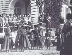 "Tsar Nicholas ll of Russia with his children in 1911. ""AL"""