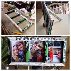 Look what Jenna made!  She used her boyfriend's old hockey stick that he used at Nationals, a puck and the end of the stick as the stand!! ❤️