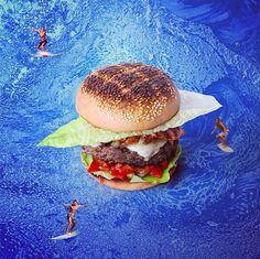 看汉堡是如何被设计师玩坏的   Fat & Furious Burger