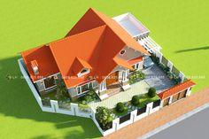 Duplex House Plans, Bungalow House Plans, Dream House Plans, Landscape Design Plans, Home Design Plans, Sims 4 Modern House, Studio Layout, Model House Plan, Kerala Houses