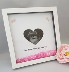 Baby Scan Frame, Pregnancy Scan Frame, Baby Scan Picture Frame, Baby Shower Gift, Pregnancy Gift, Scan Frame, New Baby by ButtonsAndBowsHWL on Etsy https://www.etsy.com/uk/listing/543146790/baby-scan-frame-pregnancy-scan-frame
