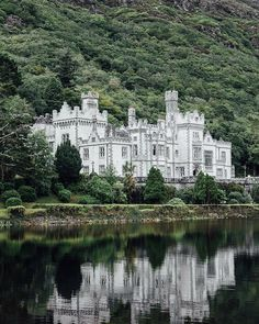 "myfairylily: ""Kylemore Abbey (Irish: Mainistir na Coille Móire), Connemara, Ireland Ireland Vacation, Ireland Travel, Cork Ireland, Dublin Ireland, Scotland Travel, Places To Travel, The Places Youll Go, Places To Visit, Beautiful Castles"