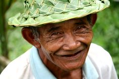 The life he has seen with his tired eyes and the jokes he has laughed at, this rice man from Bali