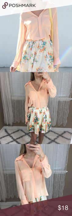 Sabo Skirt Sheer Blouse Sabo skirt brand long sleeve sheer Blouse. New without tags. Size Small. No trades  -- BIN G  #saboskirt #sheerlongsleeve #longsleeveblouse Sabo Skirt Tops Blouses