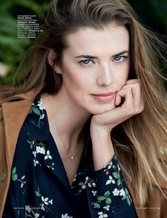 Agyness Deyn stars in Vogue Russia Magazine March 2016 issue