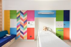 Colourful children's hospital rooms by Morag Myerscough
