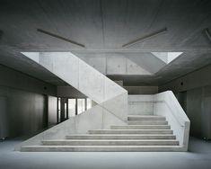 Interior Design Addict: AFF architekten, Hans Christian Schink · Extension of Arndt-Gymnasium (With images) Staircase Architecture, Architecture Design, Interior Staircase, Staircase Railings, Modern Staircase, Staircase Design, Stairs, Staircases, Light Architecture