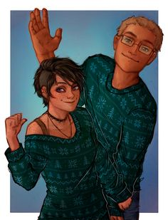 If you get Thalia a Christmas pine tree sweater she won't get mad, she'll just get a matching one for her little brother. | art by lazyleezard