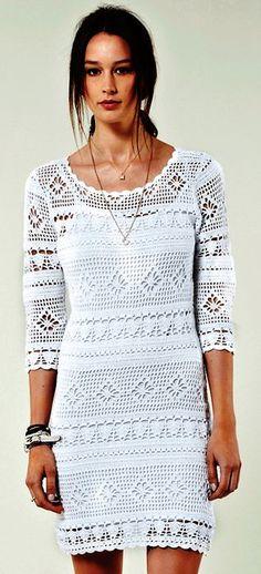 Платье филейное вязание крючком схемы. Крючок вязание филейный узор платья. | Домоводство для всей семьи
