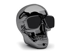Discover Aeroskull HD+ Docking Station/Bluetooth Speaker - Chrome Black and Jarre collection on Mohd. Buy online with Guaranteed Price and shipping door to door to the US. Biker Party, Home Tech, Stereo Amplifier, Music Store, Skull Design, Technology Gadgets, Ipod Touch, Cover, Cool Things To Buy