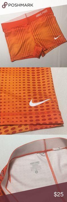 Nike Pro Shorts Size Medium.  Nike Pro Shorts.  Logo has some cracking, otherwise great condition. Nike Shorts