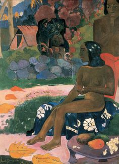 Her Name is Vairaumati by Paul Gauguin in oil on canvas, done in Now in Pushkin Museum of Fine Art. Find a fine art print of this Paul Gauguin painting. Paul Gauguin, Henri Matisse, Gauguin Tahiti, List Of Paintings, Oil Painting Reproductions, Art Moderne, Canvas Prints, Art Prints, Canvas Art
