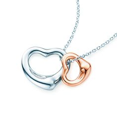 Tiffany Tip No. 13: Go straight for the heart. Elsa Peretti® Open Heart pendant in sterling silver and 18k rose gold.