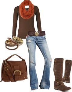 yep all of it orange scarf moda estilo, mod Look Fashion, Fashion Outfits, Womens Fashion, Fall Fashion, Fall Winter Outfits, Autumn Winter Fashion, Mode Style, Style Me, Bcbg