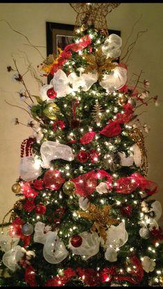 Our glitzy cotton Christmas tree
