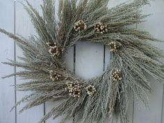 Items similar to Dried Wreath Winter Wreath Natural Wreath Large Wreath Silver King Wreath Tallow Berries Front Door Wreath Wreath For Door on Etsy Willow Wreath, Twig Wreath, Berry Wreath, White Wreath, Autumn Wreaths, Holiday Wreaths, Wreath Fall, Indoor Wreath, Wreath Forms