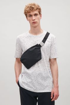 COS image 4 of Nylon cross-body bag in Black Cos Man, Clothing Photography, Cloth Bags, Backpack Bags, Cross Body, Sweatshirts, Tops, Messenger Bag, Italy Trip