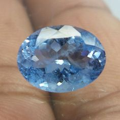 2.8 Carat 8.6x11.4 MM Natural Top Blue Color Aquamarine Oval Shape Facet Stone  #NAAZGEMS