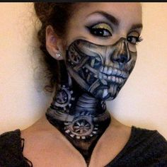 Steampunk Skull Makeup By Instagram- ellie35x