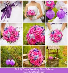 Ideas for a Pink and Purple Wedding Color Scheme
