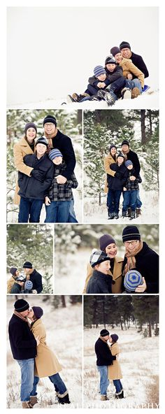 Family snow photos @Lisa Phillips-Barton Phillips-Barton Miller - I love the photo at the top