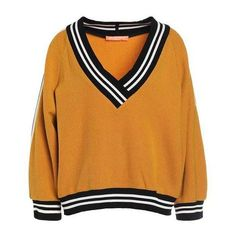 Jumper mustard ($295) ❤ liked on Polyvore featuring tops, sweaters, jumpers, orange jumper, mustard top, orange sweater, orange top and jumpers sweaters