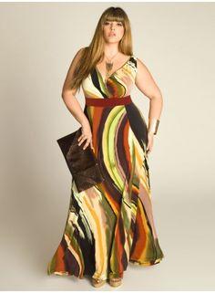 Adeola Maxi Dress  ----------------------------------------- http://www.vestidosonline.com.br/modelos-de-vestidos/vestidos-gordinhas