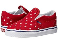 Vans Kids Classic Slip-On (Toddler) (Foil Stars) Red/Blue - Zappos.com Free Shipping BOTH Ways