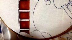 Pintura en tela tabiques y puerta de muñeco de nieve # 1 con cony