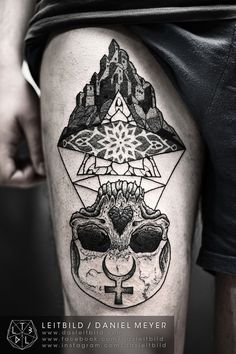 fuckyeahtattoos:  Castle in the Air by Daniel Meyer via LEITBILD