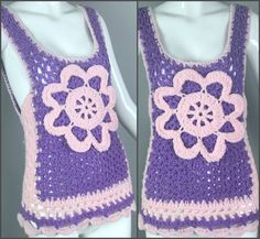 Vintage 70s Crochet Knit Handmade Sweater Vest by MothFoodVintage