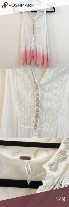 Free People Top with Silver Beading Free People Top with Silver Beading Free People Tops