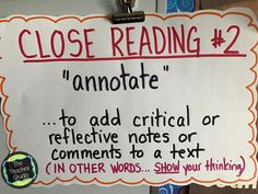 Upper Elementary Snapshots: Interacting With Text: 3 Ideas to Help Students Think Deeply About Texts Close Reading, Guided Reading, Teaching Reading, Teaching Ideas, Reading Strategies, Reading Skills, Reading Comprehension, 4th Grade Reading, Student Reading